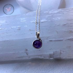 Amethyst Sterling Silver Wire Wrapped Pendant